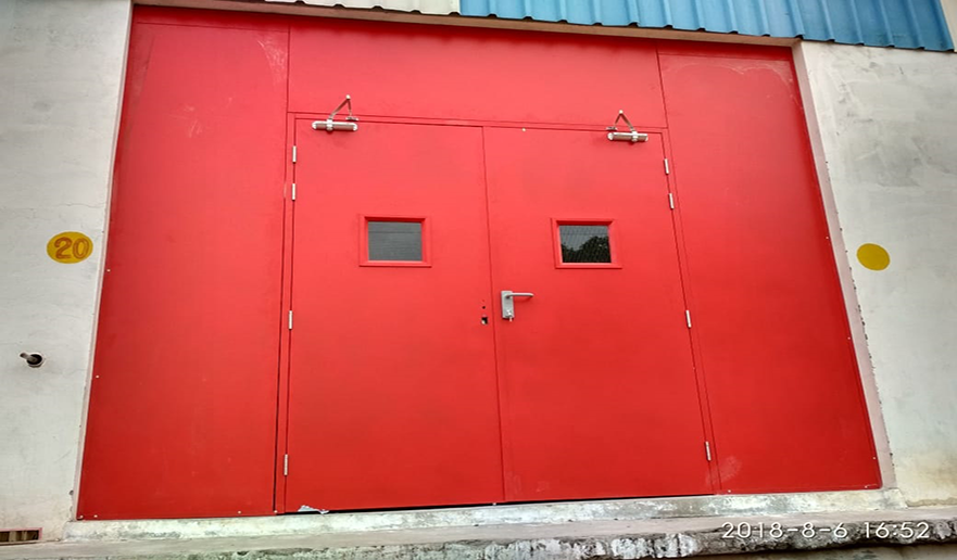 Emergency fire exit steel doors suppliers